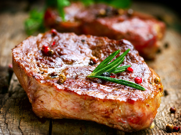 Saftiges Stück Fleisch mit Pfeffer